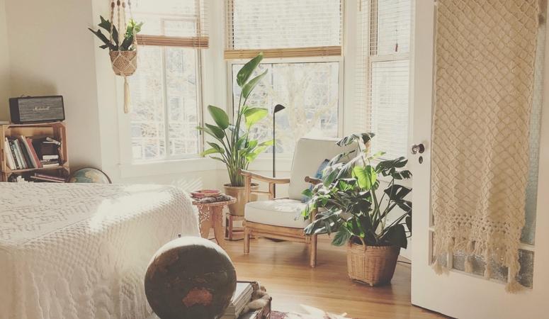 Create a space you enjoy. Create a sanctuary for meditation and yoga.